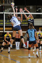 Kaposvar - Eger volleyball game Stock Photography