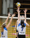 Kaposvar - Eger volleyball game Stock Photos