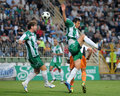 Kaposvar-Ferencvaros soccer game Stock Images