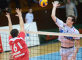 Kaposvar - Kastela volleyball match Royalty Free Stock Photos
