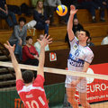Kaposvar - Kastela volleyball match Stock Images