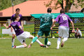 Kaposvar - Kecskemet U19 soccer game Stock Photo