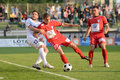 Kaposvar - Szolnok soccer game Royalty Free Stock Photography