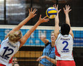 Kaposvar-Veszprem volleyball game Royalty Free Stock Photos
