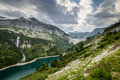 Kaprun dam malta valey and in the mountains austria Stock Image
