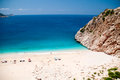 Kaputas beach turkey located towns kas kalkan Royalty Free Stock Photos