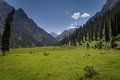 Karakol valley lanscape Royalty Free Stock Photo