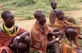 Karamojong villagers, Uganda Royalty Free Stock Photography