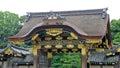 Karamon Gate of Nijo castle moat in Kyoto Royalty Free Stock Photo