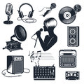 Karaoke Elements Monochrome Vintage Set
