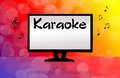 Karaoke illustration of monitor tv Stock Image
