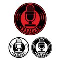 Karaoke microphone symbol vector illustration of the Royalty Free Stock Photography