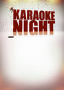 Karaoke music poster night abstract background with space Stock Photography