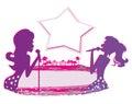 Karaoke night, abstract illustration Royalty Free Stock Photo