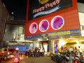 Karaoke parlour entertainment at night denpasar bali indonesia Stock Photography