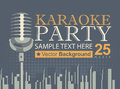 Karaoke parties over modern city