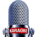 Karaoke rendering of a microphone with a icon Stock Image