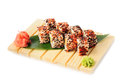 Karaoke rolls maki sushi isolated on white Royalty Free Stock Images