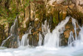 Karasu waterfall in mersin coming out of the rocks Royalty Free Stock Photo