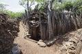 Karat konso traditional ethiopian village ethiopia Stock Photo