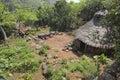 Karat konso traditional ethiopian village ethiopia Royalty Free Stock Images