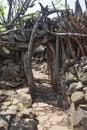 Karat konso traditional ethiopian village ethiopia Royalty Free Stock Photo