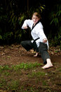 Karate Girl Stock Image