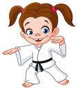 Karate girl Royalty Free Stock Photo