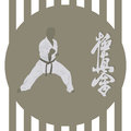 Karate the illustration the person in a kimono is engaged in Royalty Free Stock Photos