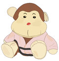 Karate monkey toys kimono with belt Royalty Free Stock Photos