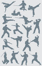 Karate Vector Figures Royalty Free Stock Image