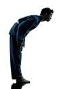 Karate vietvodao martial arts man silhouette Royalty Free Stock Photo