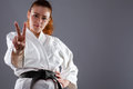 Karate Woman Royalty Free Stock Photo