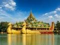 Karaweik Kandawgyi Lake, Yangon, Myanmar Royalty Free Stock Photo