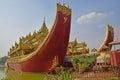 Karaweik Palace at the eastern shore of Kandawgyi Lake, Yangon, Burma Royalty Free Stock Photo