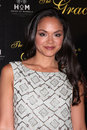 Karen Olivo arrives at the 37th Annual Gracie Awards Gala Stock Image
