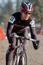 Karen Oppenheimer  - Pro Woman Cyclocross Racer Stock Photos