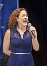 """Karen ziemba tony winner appears at """"stars in the alley """" a free outdoor concert produced by the broadway league the venue was Stock Image"""