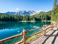 Karerlake italy background dolomites Royalty Free Stock Images