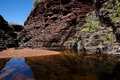 Karijini national park australia centred in the hamersley ranges of western Stock Photos