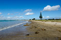Karikari peninsula new zealand landscape view of tokerau beach in in northland Stock Photos