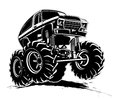 Karikatur monstertruck Lizenzfreie Stockfotografie