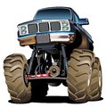 Karikatur monstertruck Lizenzfreies Stockfoto