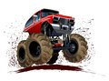 Karikatur monstertruck Stockfotografie