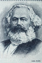 Karl Marx portrait from old German money Royalty Free Stock Photo