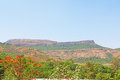 Karla caves on mountain india ancient and ruins Stock Image