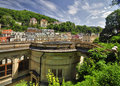 Karlovy vary city center in czech republic Stock Image
