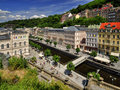 Karlovy vary city center in czech republic Royalty Free Stock Photo