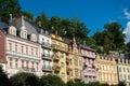Karlovy Vary House Facades Royalty Free Stock Photo