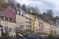 Karlovy Vary residential architecture Stock Photo